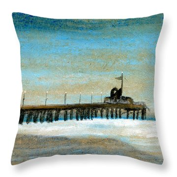 Pier Throw Pillow by R Kyllo
