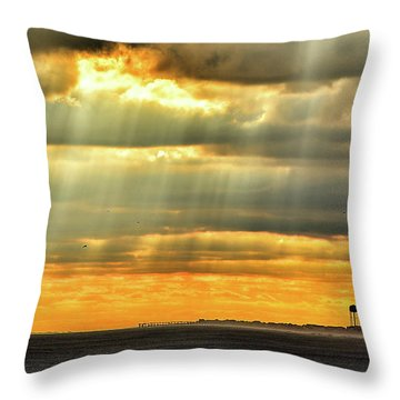 Pier Rays Throw Pillow