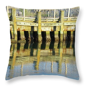 Pier Reflection Throw Pillow