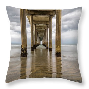 Pier Review Throw Pillow