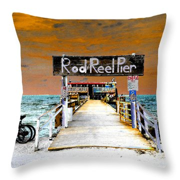 Pier Scape Throw Pillow by David Lee Thompson