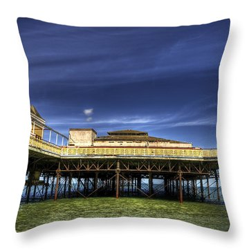 Pier Structure Throw Pillow by Svetlana Sewell