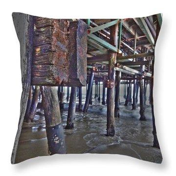 Pier Underworld Throw Pillow