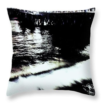 Throw Pillow featuring the photograph Pier by Vanessa Palomino