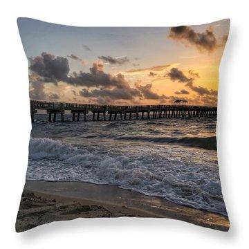 Pier Waves Throw Pillow