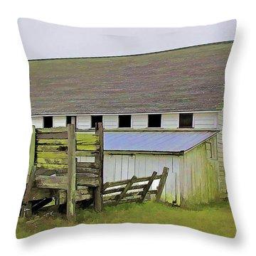 Pierce Pt. Ranch Barn Throw Pillow