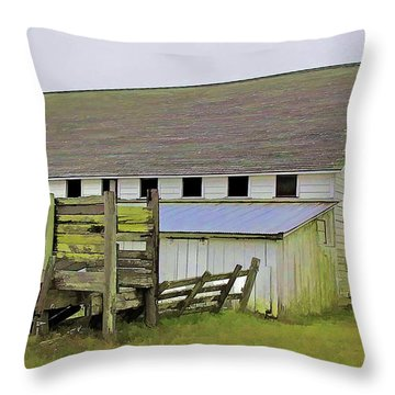 Pierce Pt. Ranch Barn Throw Pillow