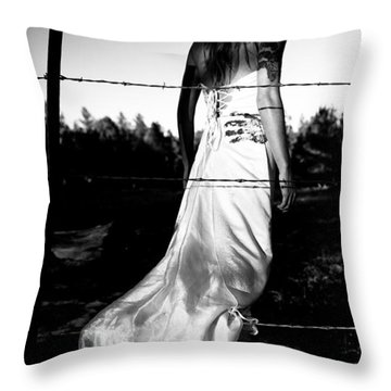 Pierced Dress Throw Pillow