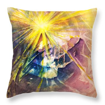Piercing Light Throw Pillow by Allison Ashton