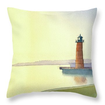 Pierhead Lighthouse, Milwaukee Throw Pillow