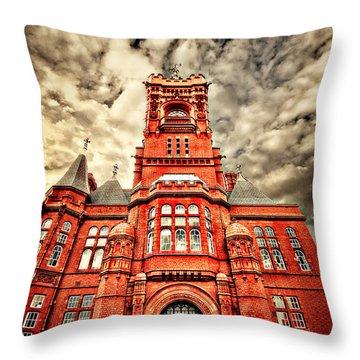 Pierhead Throw Pillow by Meirion Matthias