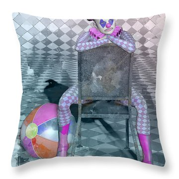Pierrette Watercolor  Throw Pillow