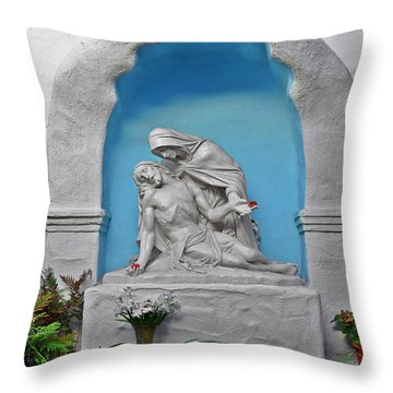 Pieta Garden Mission Diego De Alcala Throw Pillow