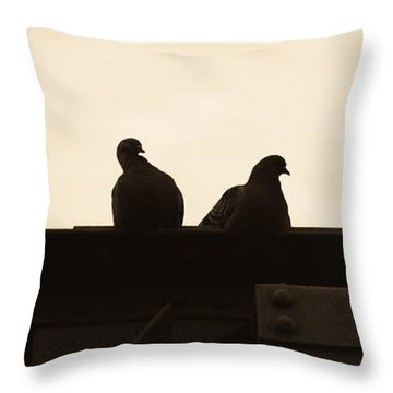 Pigeon And Steel Throw Pillow