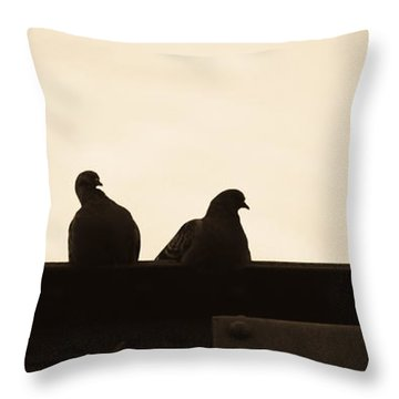 Pigeon And Steel Throw Pillow by Bob Orsillo