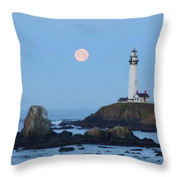 Pigeon Point At Moonset Throw Pillow
