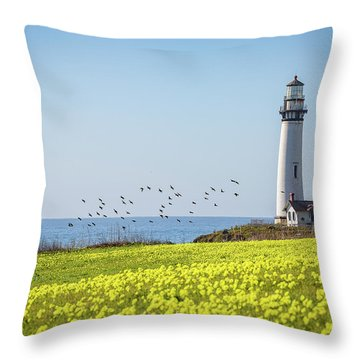 Pigeon Point Light Station Historic Park Throw Pillow