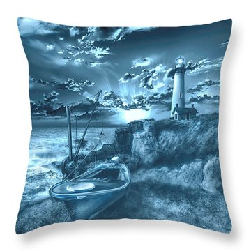 Pigeon Point Lighthouse 2 Throw Pillow