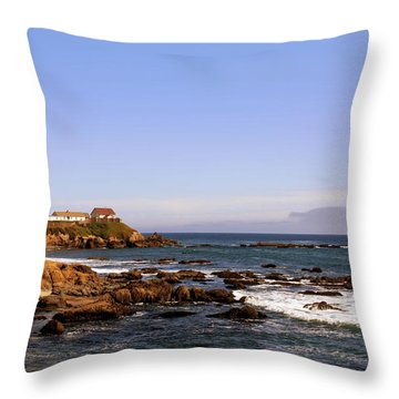 Pigeon Point Lighthouse Ca Throw Pillow by Christine Till