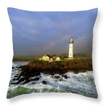 Throw Pillow featuring the photograph Pigeon Point Lighthouse by Evgeny Vasenev
