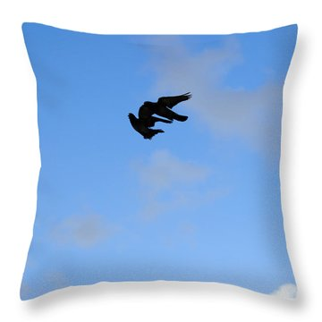 Pigeons Shadow Throw Pillow