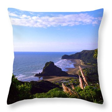 Piha Panorama Throw Pillow by Kevin Smith