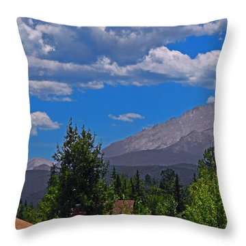 Pike's Panoramic Segment Left Throw Pillow