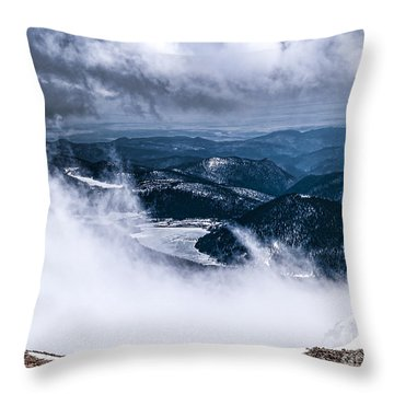 Throw Pillow featuring the photograph Pikes Peak by Anthony Baatz