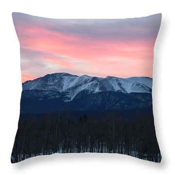 Sunrise Pikes Peak Co Throw Pillow