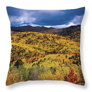 Pikes Peak Autumn Throw Pillow