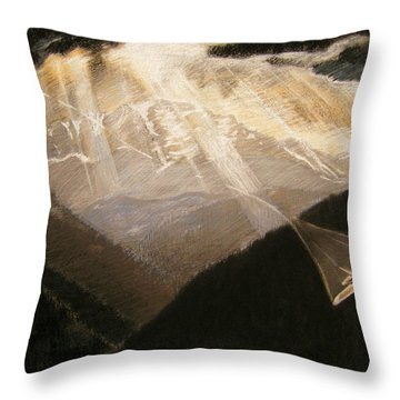 Pikes Peak Flight Throw Pillow by Nils Bifano