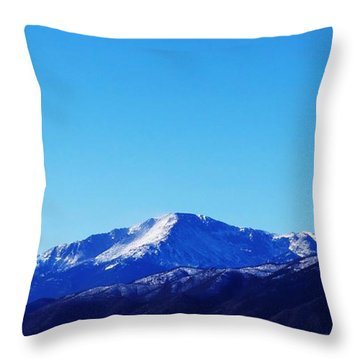 Throw Pillow featuring the photograph Pikes Peak by Joseph Frank Baraba