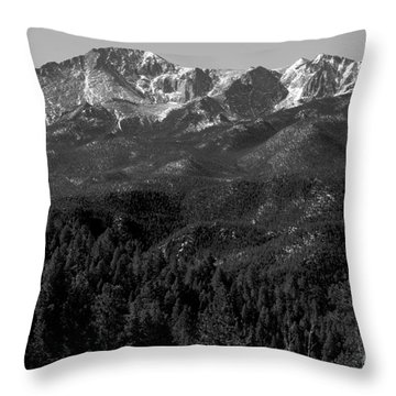 Pikes Peak Spring Throw Pillow