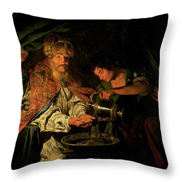 Pilate Washing His Hands Throw Pillow by Stomer Matthias