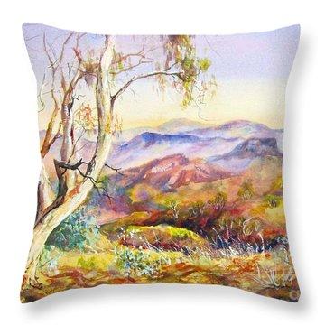 Pilbara, Hamersley Range, Western Australia. Throw Pillow