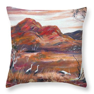 Pilbara, Outback, Western Australia, Throw Pillow