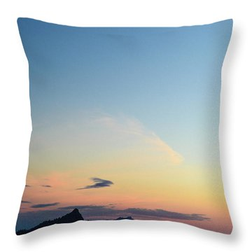 Pilchuck Sunset Throw Pillow