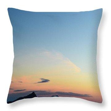 Pilchuck Sunset Throw Pillow