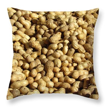 Pile Of Peanuts Throw Pillow