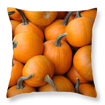 Pile Of Pumkins Throw Pillow by Bradford Martin