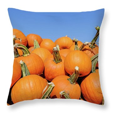 Pile Of Pumpkins Throw Pillow