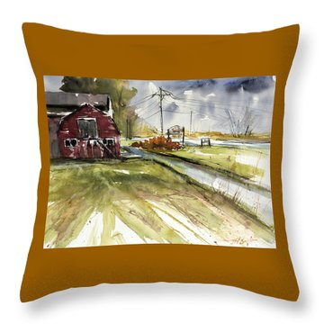 Pile Of Pumpkins Throw Pillow by Judith Levins