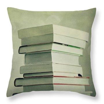 Piled Reading Matter Throw Pillow