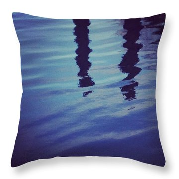 Piling Reflection Throw Pillow