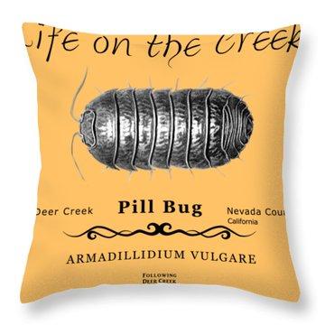 Pill Bug Armadillidium Vulgare Throw Pillow