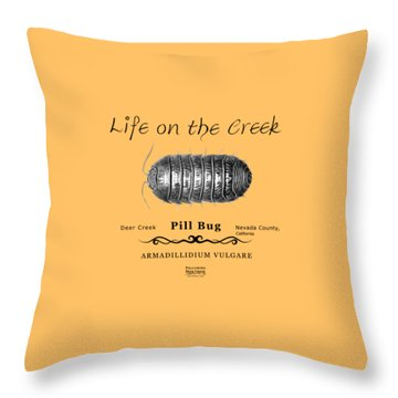 Pill Bug Armadillidium Vulgare Throw Pillow