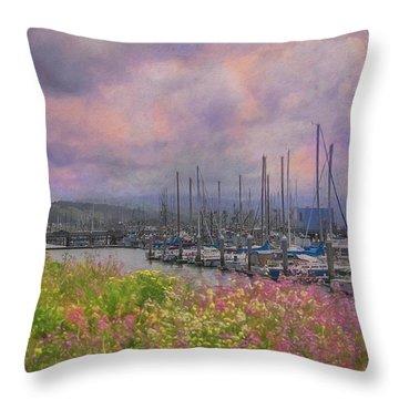 Pillar Point Harbor Throw Pillow