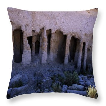 Pillars And Caves, Crowley Lake Throw Pillow by Michael Courtney