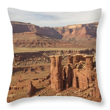 Pillars In Canyonlands Throw Pillow