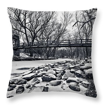 Pillars On The Shore Throw Pillow